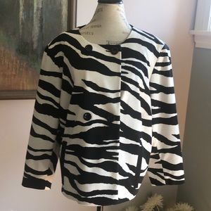 Jones New York Zebra Jacket 20W